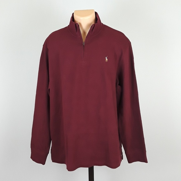 8da12343b  NEW  Polo Ralph Lauren Men s XL Burgundy Sweater